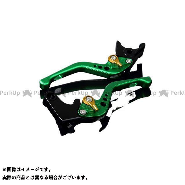 【エントリーで最大P21倍】SSK ニンジャZX-6R アルミビレットアジャストレバーセット 3Dショート(レバー本体:マットグリーン) アジャスター:マットゴールド エスエスケー