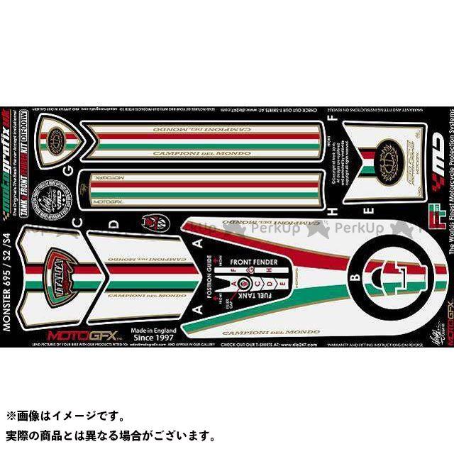 【エントリーで最大P23倍】モトグラフィックス ボディパッド Tank&Front Fender Kit ドゥカティ タイプ:DTF001W MOTOGRAFIX