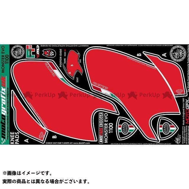 【エントリーで最大P23倍】モトグラフィックス モンスター1100EVO KD006R ボディパッド Knee ドゥカティ MOTOGRAFIX