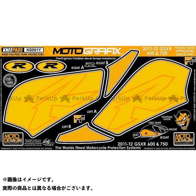 【エントリーで最大P23倍】モトグラフィックス GSX-R600 GSX-R750 ボディパッド Knee スズキ タイプ:KS001Y MOTOGRAFIX