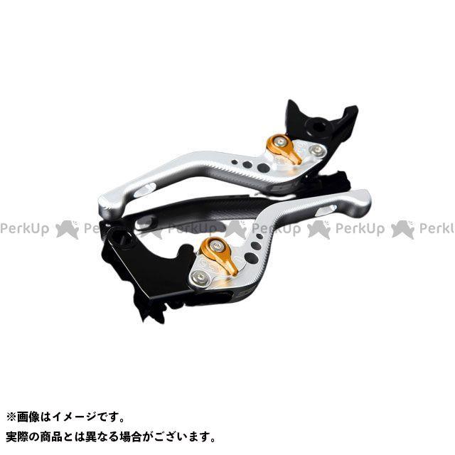 【特価品】SSK FZ1フェザー(FZ-1S) YZF-R1 YZF-R6 アルミビレットアジャストレバーセット 3Dショート(レバー本体:マットシルバー) アジャスター:マットゴールド エスエスケー
