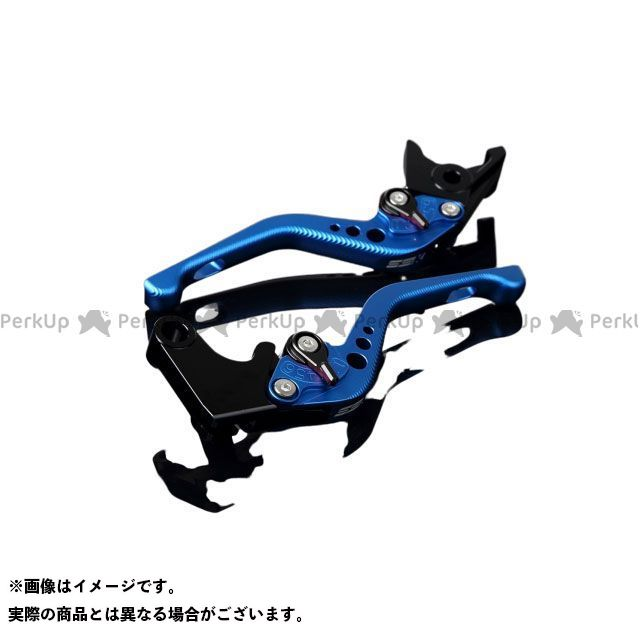 【エントリーで最大P21倍】SSK YZF-R1 アルミビレットアジャストレバーセット 3Dショート(レバー本体:マットブルー) アジャスター:マットブラック エスエスケー