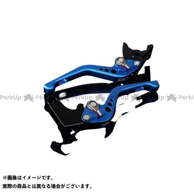 【エントリーで最大P21倍】SSK YZF-R6 アルミビレットアジャストレバーセット 3Dショート(レバー本体:マットブルー) アジャスター:マットチタン エスエスケー