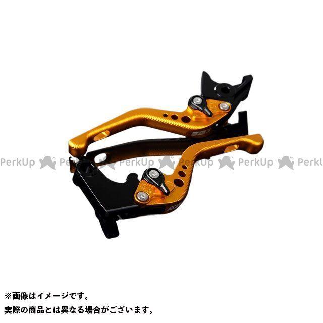 【エントリーで最大P21倍】SSK GSX-R600 GSX-R750 アルミビレットアジャストレバーセット 3Dショート(レバー本体:マットゴールド) アジャスター:マットブラック エスエスケー