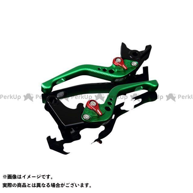 【特価品】SSK GSX-R600 GSX-R750 アルミビレットアジャストレバーセット 3Dショート(レバー本体:マットグリーン) アジャスター:マットレッド エスエスケー