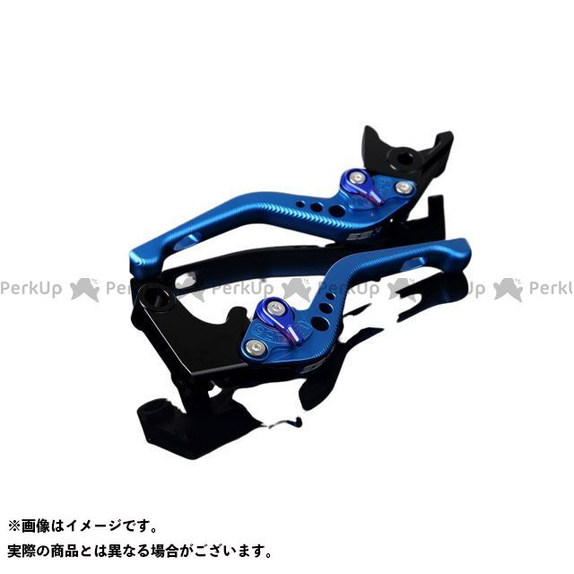 【特価品】SSK GSX-R1000 GSX-R600 GSX-R750 アルミビレットアジャストレバーセット 3Dショート(レバー本体:マットブルー) アジャスター:マットブルー エスエスケー