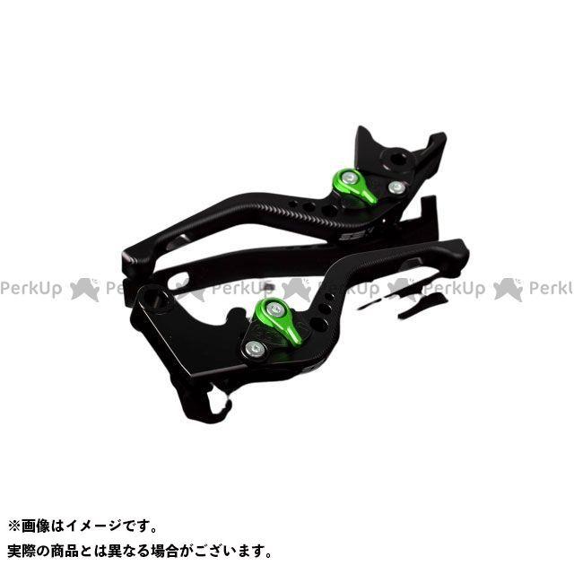 【特価品】SSK デイトナ675 スピードトリプル ストリートトリプルR アルミビレットアジャストレバーセット 3Dショート(レバー本体:マットブラック) アジャスター:マットグリーン エスエスケー