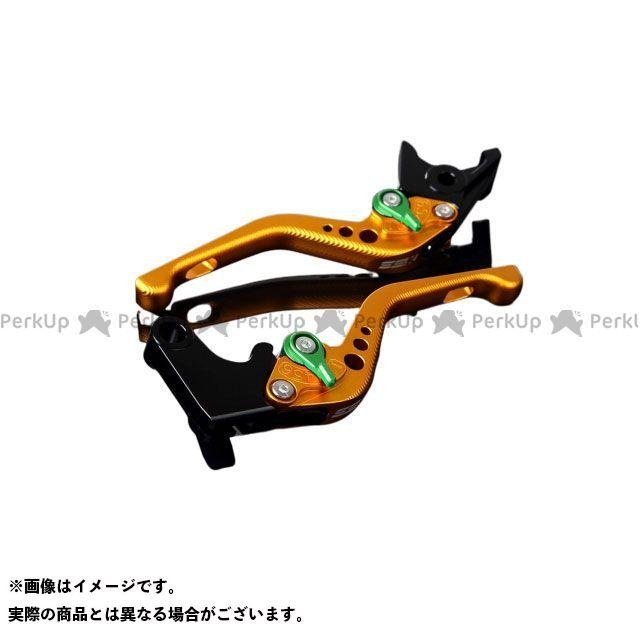 【特価品】SSK デイトナ675 スピードトリプル ストリートトリプルR アルミビレットアジャストレバーセット 3Dショート(レバー本体:マットゴールド) アジャスター:マットグリーン エスエスケー
