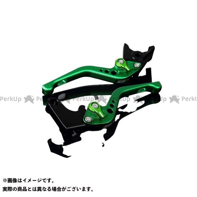 【特価品】SSK デイトナ675R スピードトリプル スピードトリプルR アルミビレットアジャストレバーセット 3Dショート(レバー本体:マットグリーン) アジャスター:マットグリーン エスエスケー