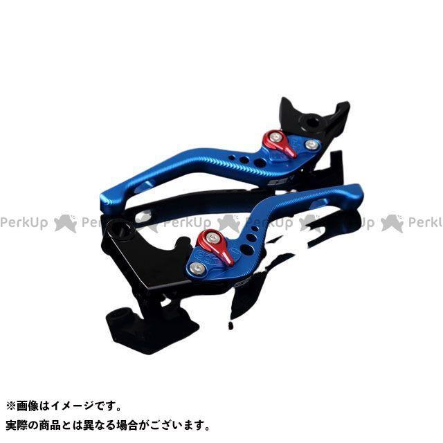【特価品】SSK アルミビレットアジャストレバーセット 3Dショート(レバー本体:マットブルー) アジャスター:マットレッド エスエスケー