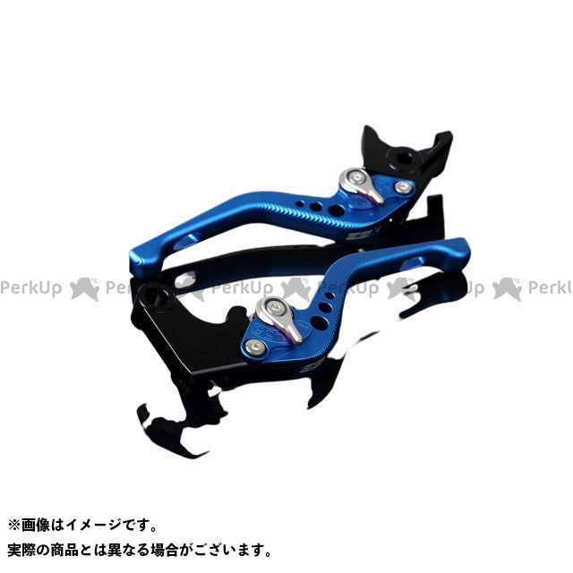 【特価品】SSK RSV4ファクトリー RSV4 R アルミビレットアジャストレバーセット 3Dショート(レバー本体:マットブルー) アジャスター:マットシルバー エスエスケー
