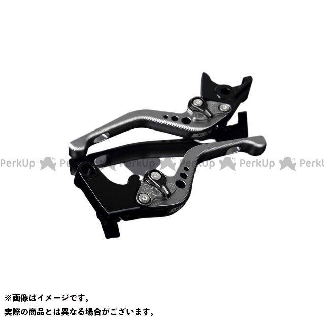 【特価品】SSK RSV4ファクトリー RSV4 R アルミビレットアジャストレバーセット 3Dショート(レバー本体:マットチタン) アジャスター:マットブラック エスエスケー