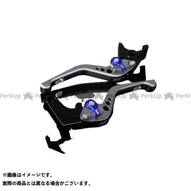 【特価品】SSK RSV4ファクトリー RSV4 R アルミビレットアジャストレバーセット 3Dショート(レバー本体:マットチタン) アジャスター:マットブルー エスエスケー