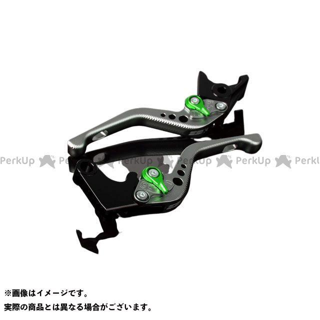 【特価品】SSK RSV4ファクトリー RSV4 R アルミビレットアジャストレバーセット 3Dショート(レバー本体:マットチタン) アジャスター:マットグリーン エスエスケー