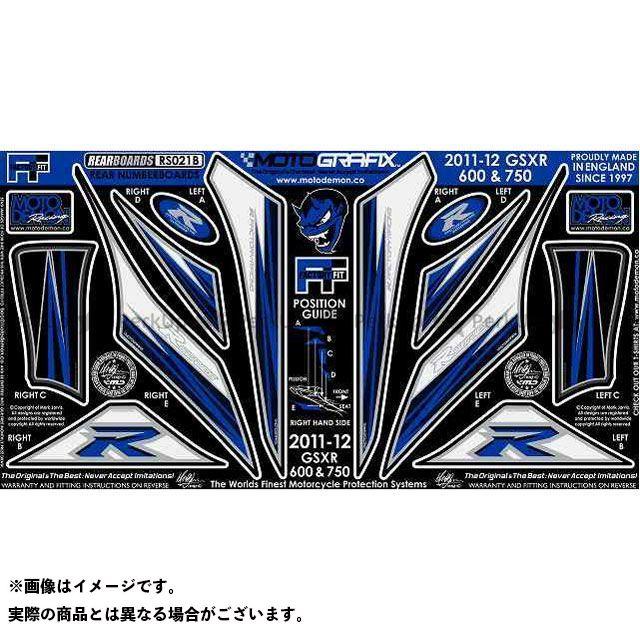【エントリーで最大P23倍】モトグラフィックス GSX-R600 GSX-R750 ボディパッド Rear スズキ タイプ:RS021B MOTOGRAFIX