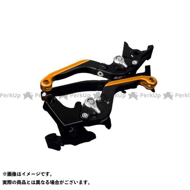 SSK FZ1フェザー(FZ-1S) YZF-R1 YZF-R6 アルミビレットアジャストレバーセット 可倒延長式(レバー本体:マットブラック) マットシルバー マットゴールド エスエスケー