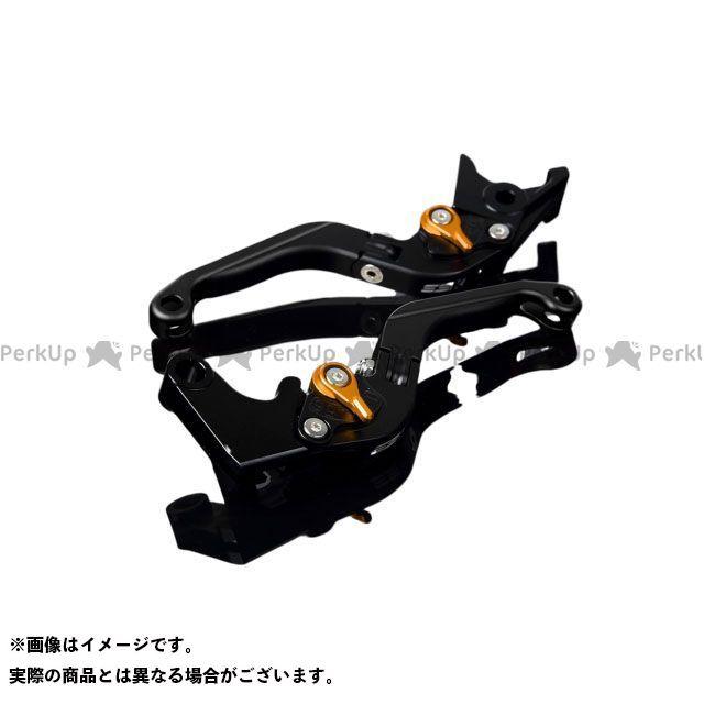 SSK FJR1300AS/A XT1200Zスーパーテネレ アルミビレットアジャストレバーセット 可倒延長式(レバー本体:マットブラック) マットゴールド マットブラック エスエスケー