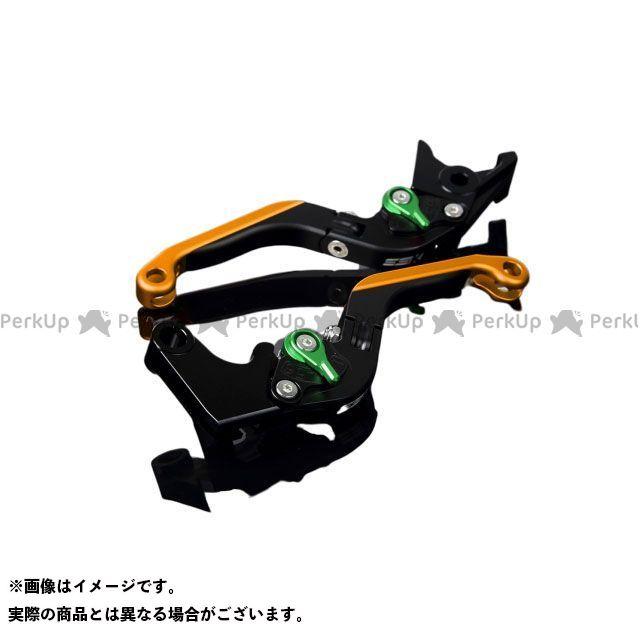 SSK FJR1300AS/A XT1200Zスーパーテネレ アルミビレットアジャストレバーセット 可倒延長式(レバー本体:マットブラック) アジャスター:マットグリーン エクステンション:マットゴールド エスエスケー