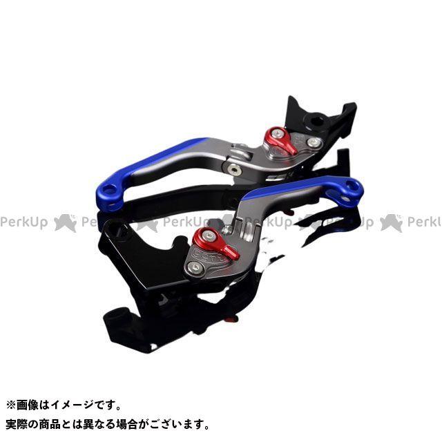 SSK FJR1300AS/A XT1200Zスーパーテネレ アルミビレットアジャストレバーセット 可倒延長式(レバー本体:マットチタン) マットレッド マットブルー エスエスケー