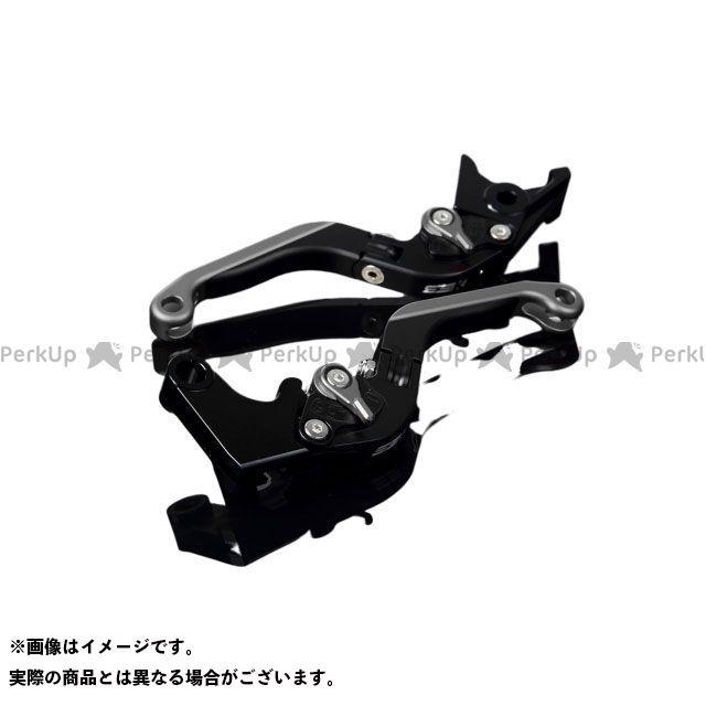 SSK MT-10 ナイケン トレーサー900・MT-09トレーサー アルミビレットアジャストレバーセット 可倒延長式(レバー本体:マットブラック) アジャスター:マットチタン エクステンション:マットチタン エスエスケー