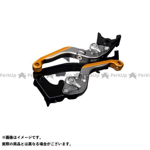 【エントリーで最大P21倍】SSK MT-10 ナイケン トレーサー900・MT-09トレーサー アルミビレットアジャストレバーセット 可倒延長式(レバー本体:マットチタン) アジャスター:マットシルバー エクステンション:マットゴールド エスエスケー