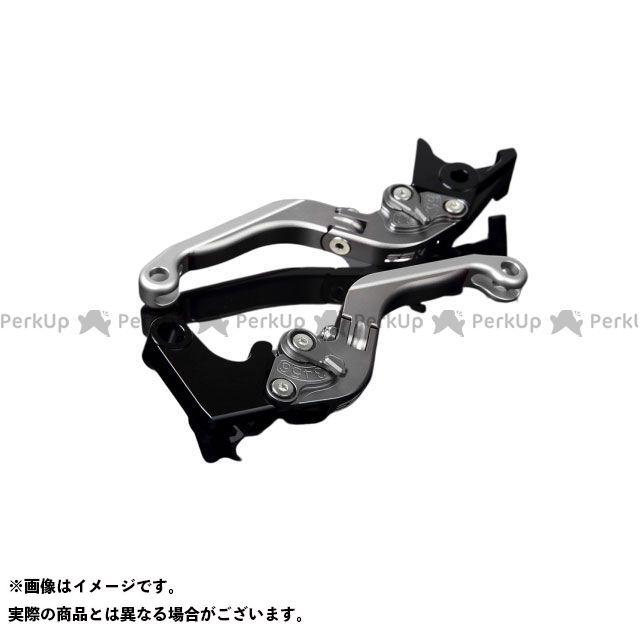 SSK MT-10 ナイケン トレーサー900・MT-09トレーサー アルミビレットアジャストレバーセット 可倒延長式(レバー本体:マットチタン) アジャスター:マットチタン エクステンション:マットシルバー エスエスケー