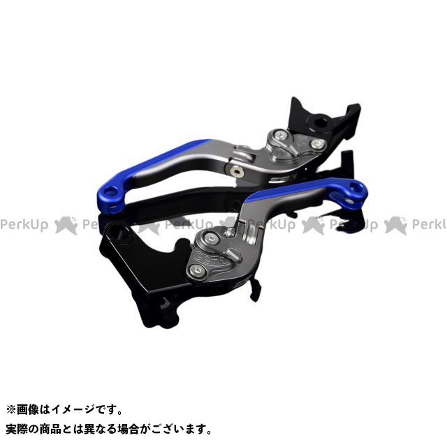 SSK MT-10 ナイケン トレーサー900・MT-09トレーサー アルミビレットアジャストレバーセット 可倒延長式(レバー本体:マットチタン) マットチタン マットブルー エスエスケー