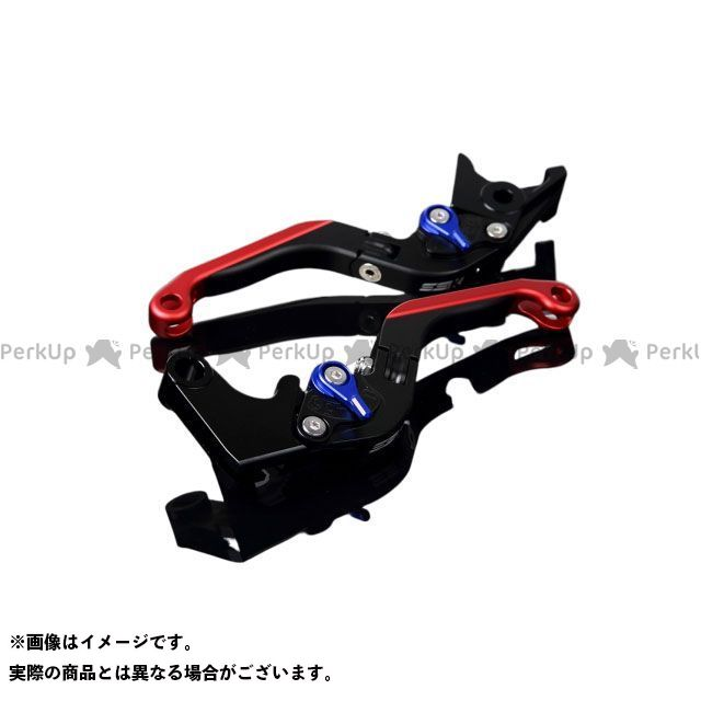 SSK YZF-R1 YZF-R6 アルミビレットアジャストレバーセット 可倒延長式(レバー本体:マットブラック) マットブルー マットレッド エスエスケー