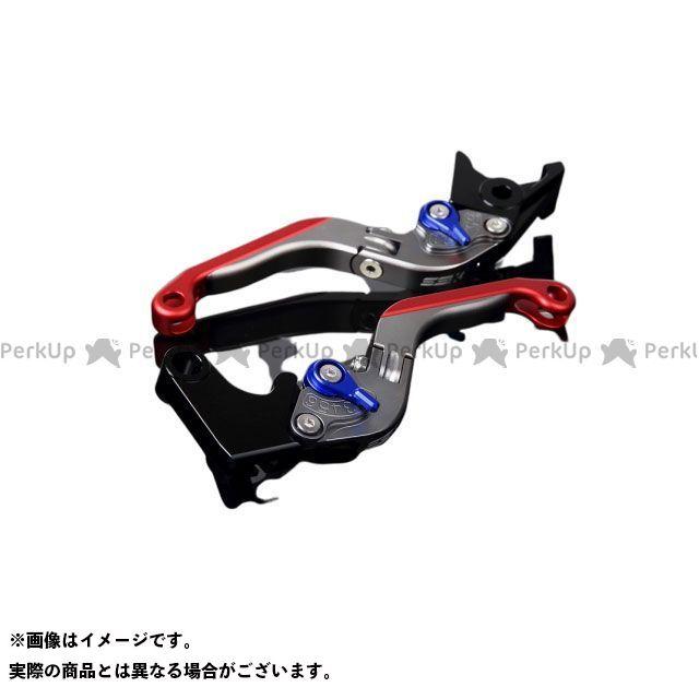 SSK YZF-R1 YZF-R6 アルミビレットアジャストレバーセット 可倒延長式(レバー本体:マットチタン) マットブルー マットレッド エスエスケー