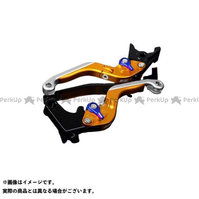 SSK YZF-R1 アルミビレットアジャストレバーセット 可倒延長式(レバー本体:マットゴールド) アジャスター:マットブルー エクステンション:マットシルバー エスエスケー