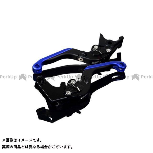 SSK YZF-R1 アルミビレットアジャストレバーセット 可倒延長式(レバー本体:マットブラック) マットブラック マットブルー エスエスケー