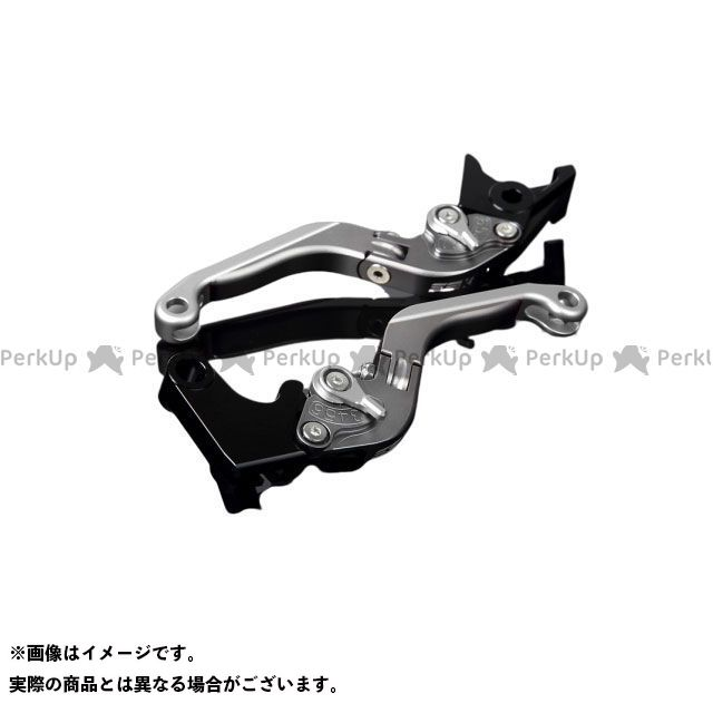 SSK YZF-R1 アルミビレットアジャストレバーセット 可倒延長式(レバー本体:マットチタン) アジャスター:マットシルバー エクステンション:マットシルバー エスエスケー