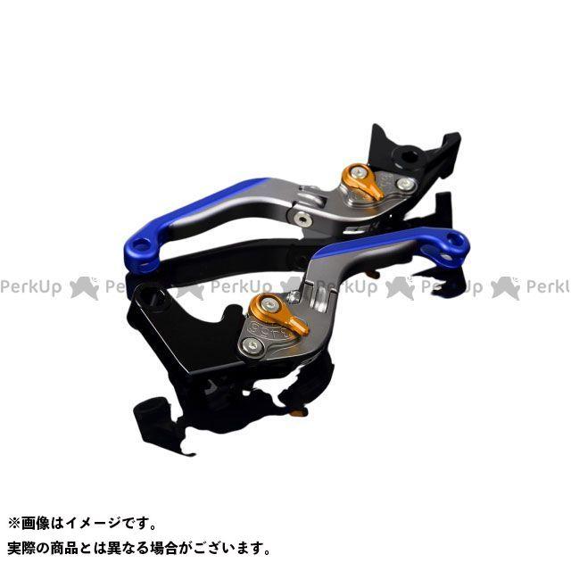 【特価品】SSK YZF-R1 アルミビレットアジャストレバーセット 可倒延長式(レバー本体:マットチタン) アジャスター:マットゴールド エクステンション:マットブルー エスエスケー