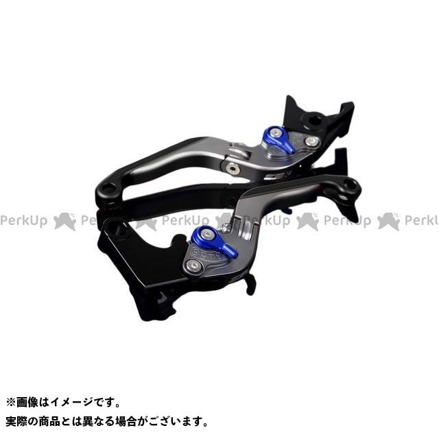 【特価品】SSK YZF-R1 アルミビレットアジャストレバーセット 可倒延長式(レバー本体:マットチタン) アジャスター:マットブルー エクステンション:マットブラック エスエスケー