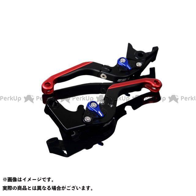 【特価品】SSK YZF-R6 アルミビレットアジャストレバーセット 可倒延長式(レバー本体:マットブラック) アジャスター:マットブルー エクステンション:マットレッド エスエスケー