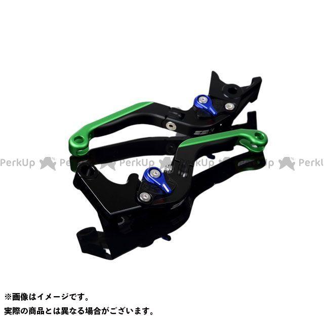 【特価品】SSK YZF-R6 アルミビレットアジャストレバーセット 可倒延長式(レバー本体:マットブラック) アジャスター:マットブルー エクステンション:マットグリーン エスエスケー
