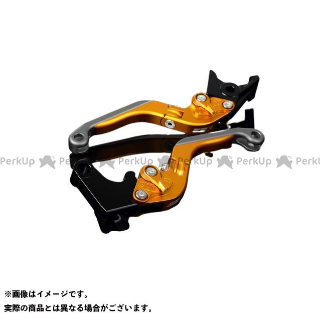 SSK YZF-R6 アルミビレットアジャストレバーセット 可倒延長式(レバー本体:マットゴールド) アジャスター:マットゴールド エクステンション:マットチタン エスエスケー