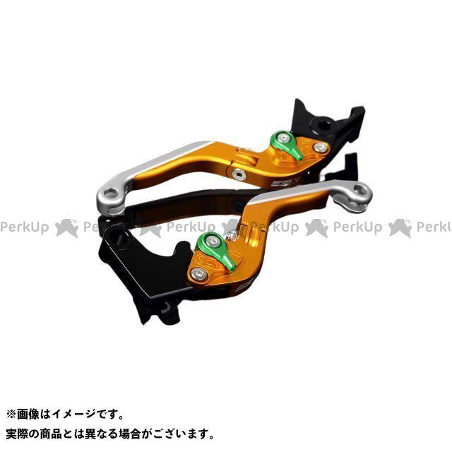 【エントリーで最大P21倍】SSK YZF-R6 アルミビレットアジャストレバーセット 可倒延長式(レバー本体:マットゴールド) アジャスター:マットグリーン エクステンション:マットシルバー エスエスケー