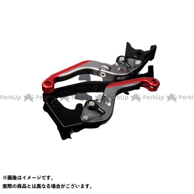 SSK YZF-R6 アルミビレットアジャストレバーセット 可倒延長式(レバー本体:マットチタン) アジャスター:マットブラック エクステンション:マットレッド エスエスケー