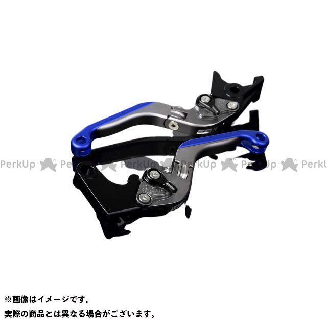 【特価品】SSK YZF-R6 アルミビレットアジャストレバーセット 可倒延長式(レバー本体:マットチタン) アジャスター:マットブラック エクステンション:マットブルー エスエスケー