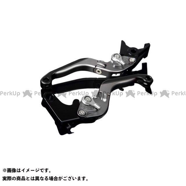 SSK YZF-R6 アルミビレットアジャストレバーセット 可倒延長式(レバー本体:マットチタン) マットシルバー マットブラック エスエスケー