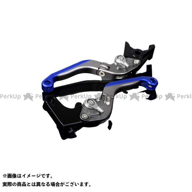 【特価品】SSK YZF-R6 アルミビレットアジャストレバーセット 可倒延長式(レバー本体:マットチタン) アジャスター:マットシルバー エクステンション:マットブルー エスエスケー