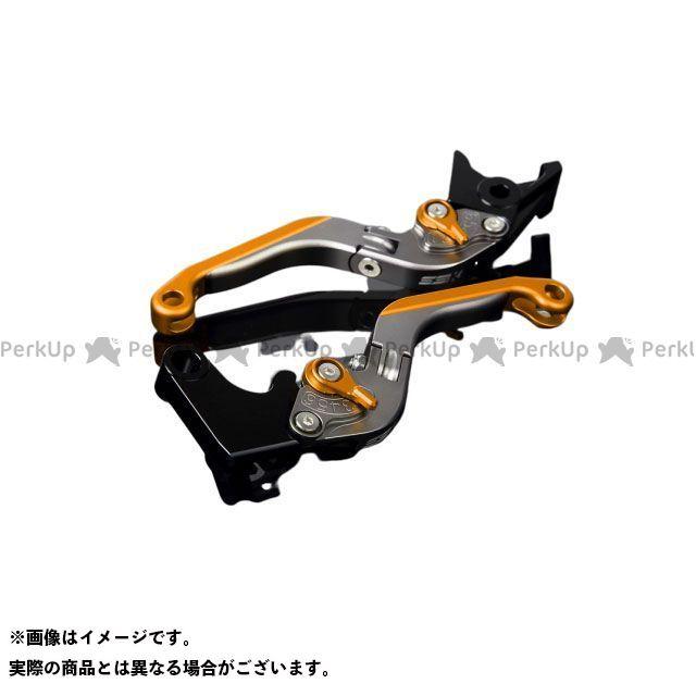 SSK YZF-R6 アルミビレットアジャストレバーセット 可倒延長式(レバー本体:マットチタン) アジャスター:マットゴールド エクステンション:マットゴールド エスエスケー