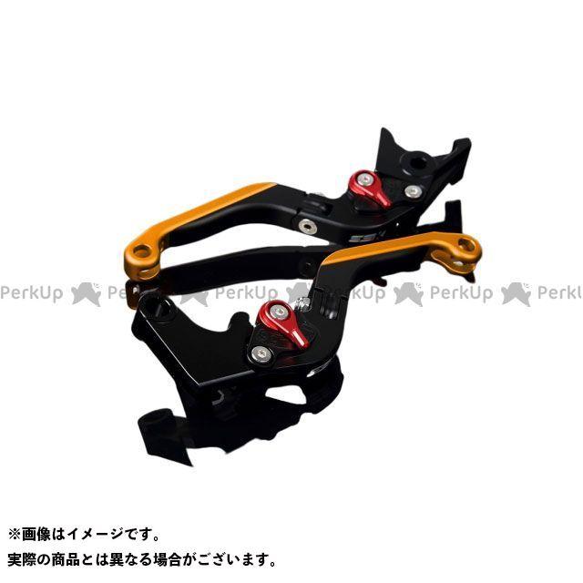 【特価品】SSK GSX-R1000 アルミビレットアジャストレバーセット 可倒延長式(レバー本体:マットブラック) アジャスター:マットレッド エクステンション:マットゴールド エスエスケー