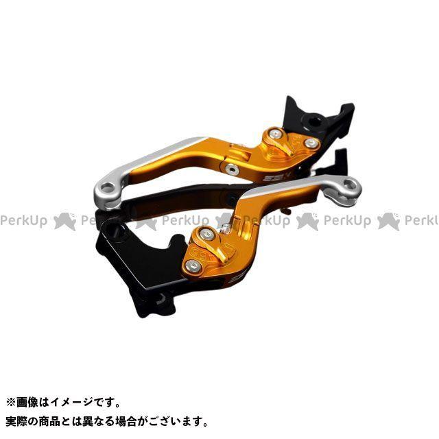 SSK GSX-R1000 アルミビレットアジャストレバーセット 可倒延長式(レバー本体:マットゴールド) アジャスター:マットゴールド エクステンション:マットシルバー エスエスケー