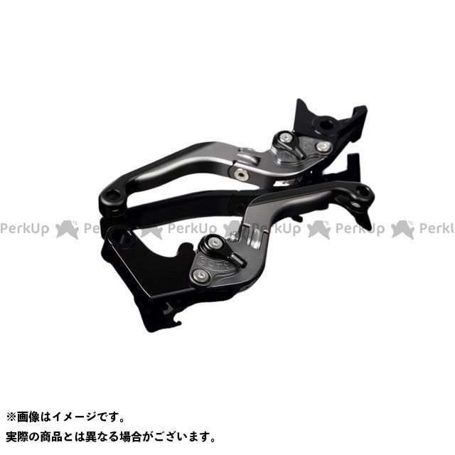 SSK GSX-R1000 アルミビレットアジャストレバーセット 可倒延長式(レバー本体:マットチタン) マットブラック マットブラック エスエスケー