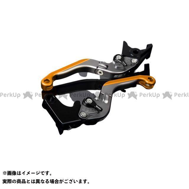 SSK GSX-R1000 アルミビレットアジャストレバーセット 可倒延長式(レバー本体:マットチタン) アジャスター:マットブラック エクステンション:マットゴールド エスエスケー