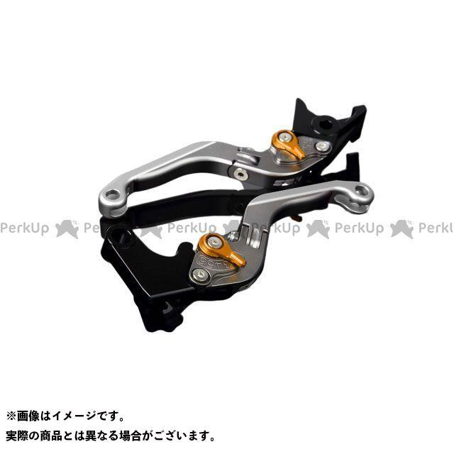 【特価品】SSK GSX-R1000 アルミビレットアジャストレバーセット 可倒延長式(レバー本体:マットチタン) アジャスター:マットゴールド エクステンション:マットシルバー エスエスケー