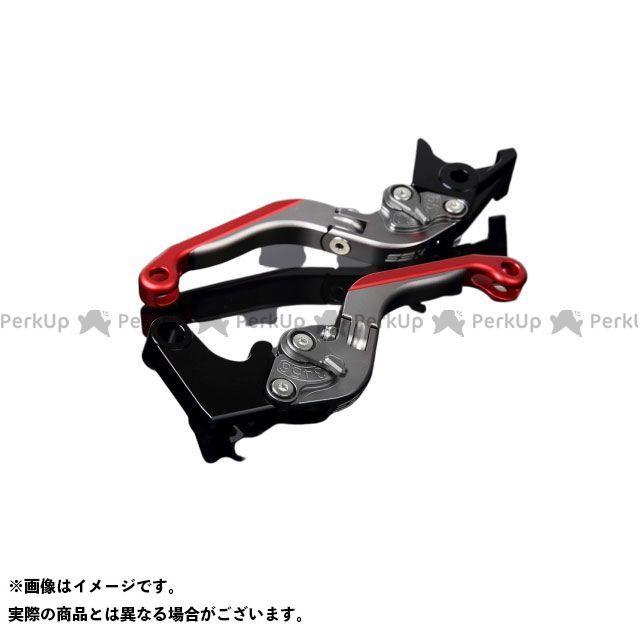 SSK GSX-R1000 アルミビレットアジャストレバーセット 可倒延長式(レバー本体:マットチタン) マットチタン マットレッド エスエスケー