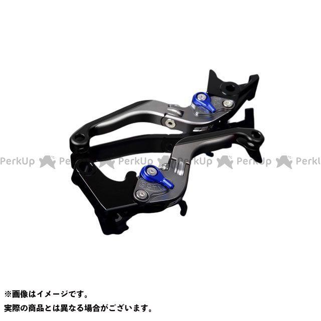 SSK GSX-R1000 アルミビレットアジャストレバーセット 可倒延長式(レバー本体:マットチタン) アジャスター:マットブルー エクステンション:マットブラック エスエスケー